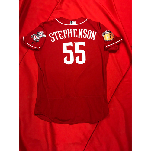 Photo of Robert Stephenson -- Team-Issued Jersey -- 2017 Spring Training