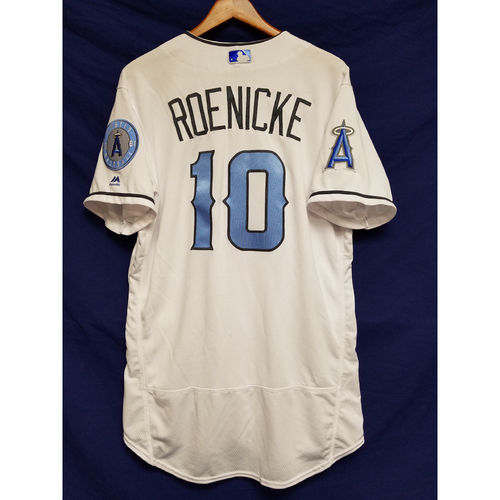 Photo of Ron Roenicke Game-Used Blue Fathers Day Jersey