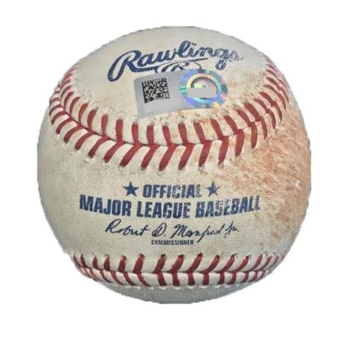 Photo of Game-Used Baseball from Pirates vs. Dodgers on 8/21/17 - Utley Single, Forsythe Walk, Taylor Grounds into Force Out