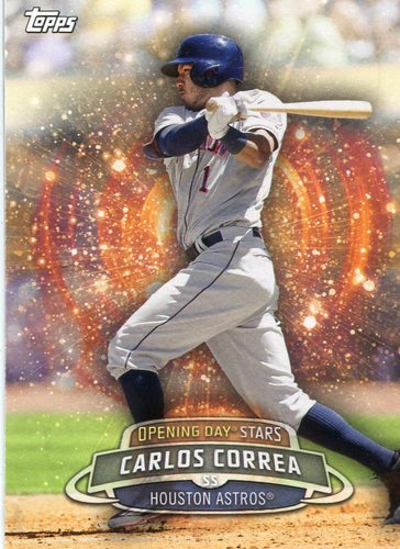 Photo of 2017 Topps Opening Day Opening Day Stars Carlos Correa -- Astros post-season
