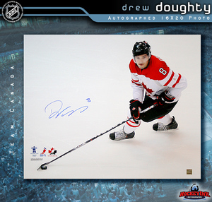DREW DOUGHTY Signed Team Canada 16 X 20 Photo - Los Angeles Kings