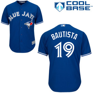 Youth Cool Base Replica Jose Bautista Alternate Jersey by Majestic