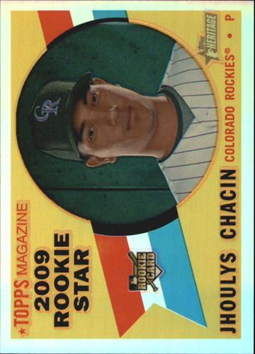 Photo of 2009 Topps Heritage Chrome Refractors #CHR139 Jhoulys Chacin