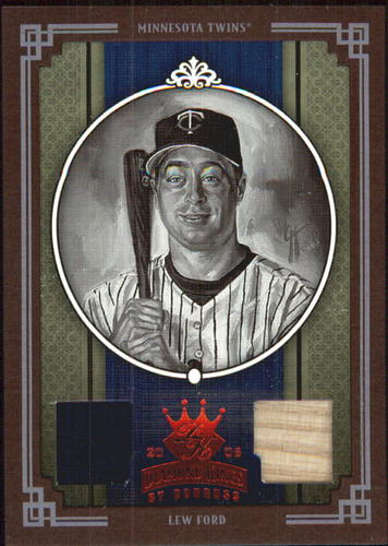 Photo of 2005 Diamond Kings Materials Framed Red B/W #132 Lew Ford Bat-Jsy/100