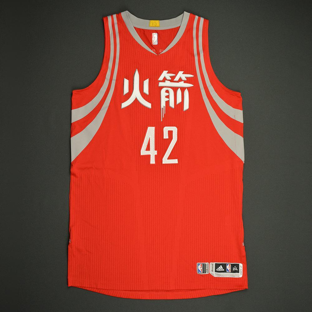 Nene Hilario - Houston Rockets - Game-Worn Red Chinese New Year Jersey - 2016-17 Season
