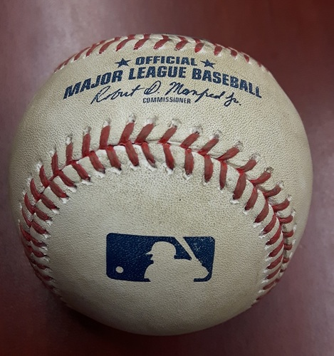Photo of Authenticated Player Collected Baseball - Kevin Pillar Home Run. Part of Franchise Record 7-run 9th Inning Comeback Win vs Angels on July 30th, 2017
