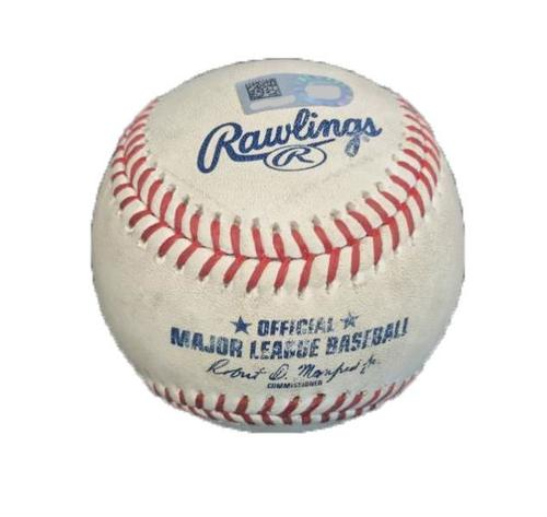 Photo of Game-Used Baseball from Pirates vs. Dodgers on 8/22/17 - Taillon vs. Taylor, Foul - Adrian Gonzalez 2000th Career Hit Game