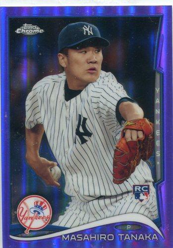 Photo of 2014 Topps Chrome Purple Refractors #10 Masahiro Tanaka -- Yankees post-season