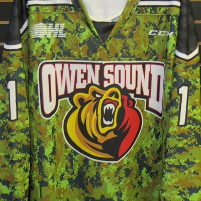 Owen Sound Attack camo jersey