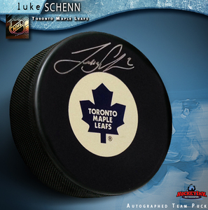 LUKE SCHENN Signed Toronto Maple Leafs Puck