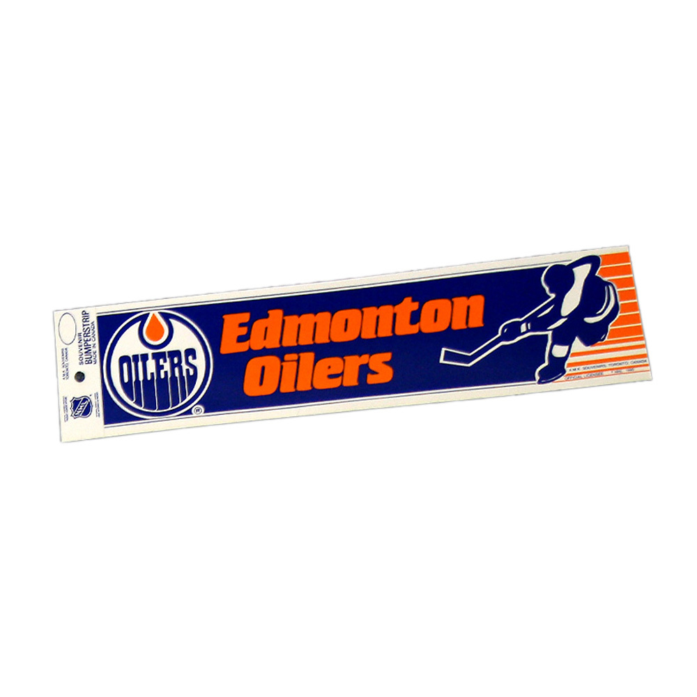 Vintage NHL EDMONTON OILERS Bumper Sticker - Unused - NOS - NM - STYLE B