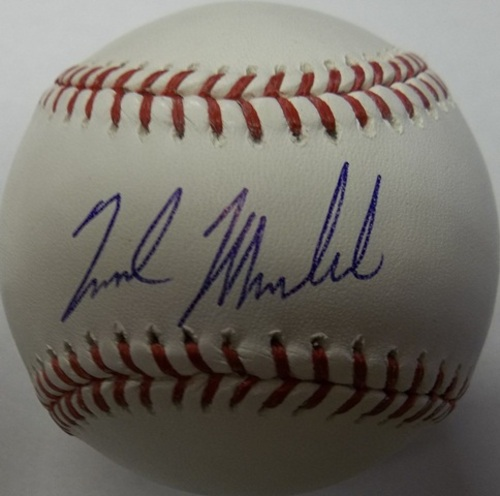 Photo of Nick Markakis Autographed Baseball