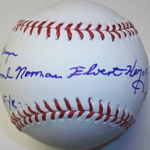 """Photo of Dorrel Norman Elvert Herzog """"The White Rat, HOF 10, 82 WS Champs, 85 Manager of the Year"""" Autographed Official MLB Baseball"""