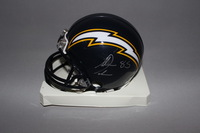 NFL - CHARGERS ANTONIO GATES SIGNED CHARGERS MINI HELMET (SMUDGED SIGNATURE)