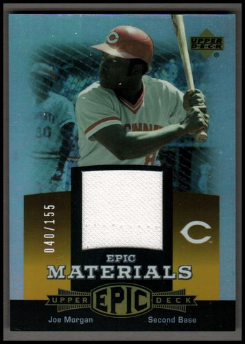 Photo of 2006 Upper Deck Epic Materials Orange #JO2 Joe Morgan Jsy/155
