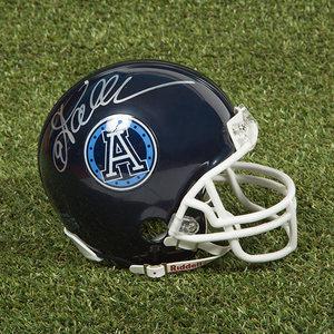 Damon Allen Toronto Argonauts Autographed CFL Football Mini-Helmet