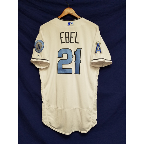 Photo of Dino Ebel Game-Used Blue Fathers Day Jersey