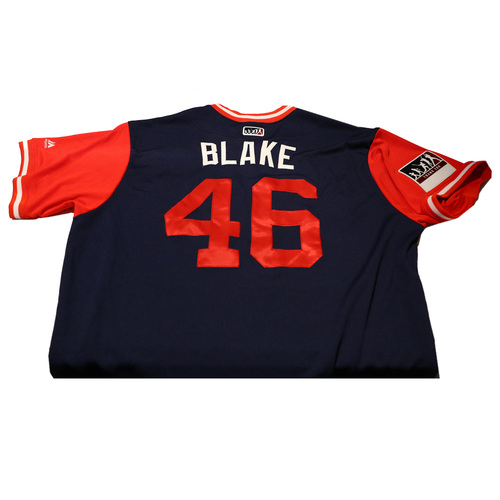"Photo of Blake ""Blake"" Wood Los Angeles Angels Game-Used Players Weekend Jersey"