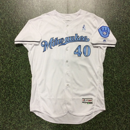 Photo of Jason Lane 2017 Father's Day Tribute Game-Used Jersey