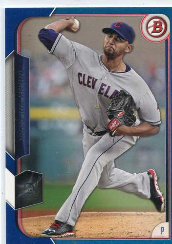 Photo of 2015 Bowman Blue #10 Danny Salazar 94/150 -- Indians post-season