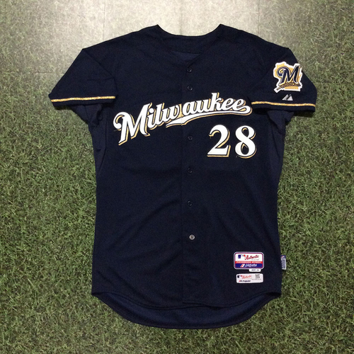 Photo of Gerardo Parra 2015 Team-Issued Road Navy Jersey