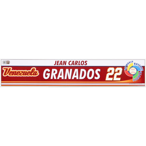 Photo of 2009 WBC: Venezuela Game-Used Locker Name Plate - #22 Jean Carlos Granados