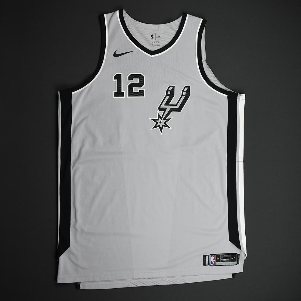 LaMarcus Aldridge - San Antonio Spurs - Statement Game-Worn Jersey - Worn During 2 Games  (Recorded 2 Double-Doubles) 2017-18 Season