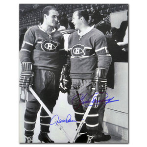 Jacques Lemaire & Yvan Cournoyer Montreal Canadiens Dual Autographed 16x20