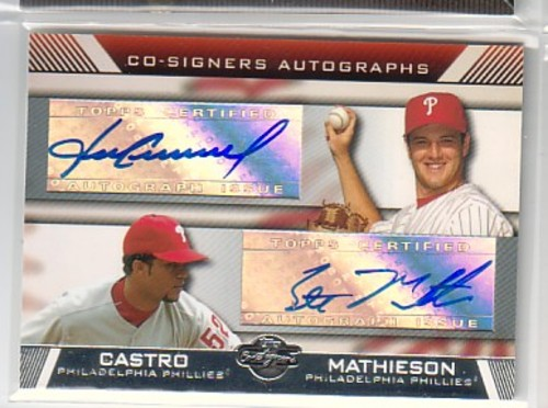 Photo of 2007 Topps Co-Signers Dual Autographs #CM Fabio Castro/Scott Mathieson A
