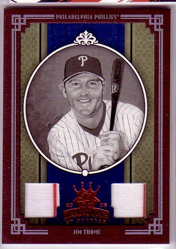 Photo of 2005 Diamond Kings Materials Framed Red B/W #171 Jim Thome Phils Jsy-Jsy/100