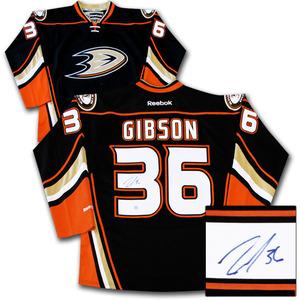 John Gibson Autographed Anaheim Ducks Jersey