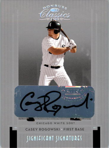 Photo of 2005 Donruss Classics Significant Signatures Silver #225 Casey Rogowski/100