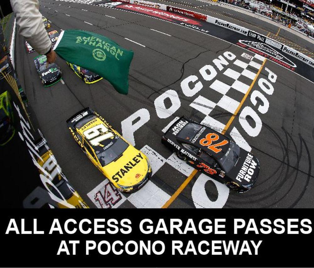 All Access NASCAR Garage Passes at Pocono Raceway June 9-11, 2017!
