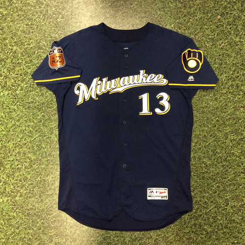 Photo of Andrew Susac 2017 Game-Used Spring Training Jersey