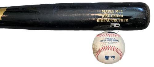 Photo of Jose Osuna Game-Used Baseball and Broken Bat