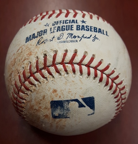 Photo of Authenticated Game Used Baseball - Todd Frazier Home Ball on August 9th, 2017
