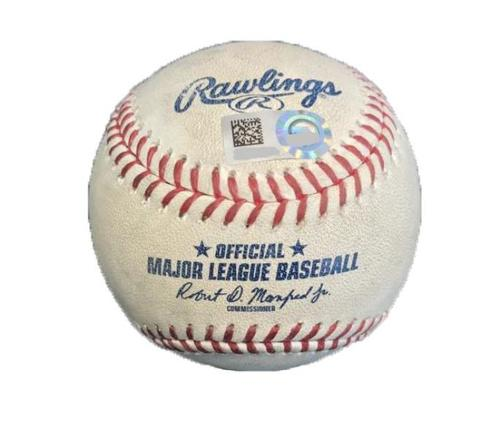 Photo of Game-Used Baseball from Pirates vs. Dodgers on 8/24/17 - Ryu to Bell, Foul