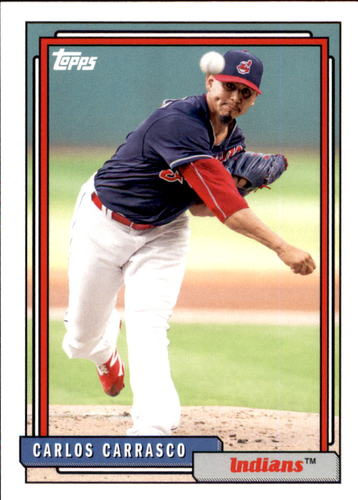 Photo of 2017 Topps Archives #296 Carlos Carrasco -- Indians post-season