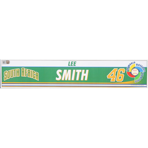 Photo of 2009 WBC: South Africa Game-Used Locker Name Plate - #46 Lee Smith