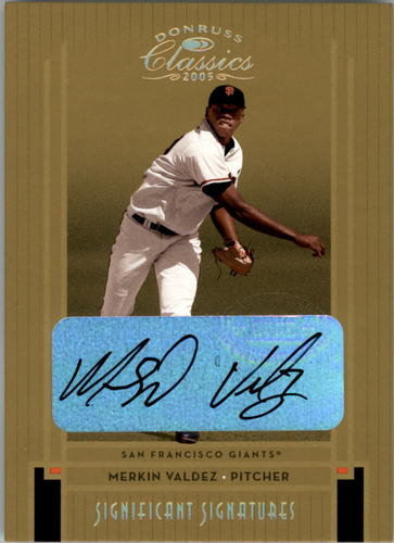 Photo of 2005 Donruss Classics Significant Signatures Gold #163 Merkin Valdez/100