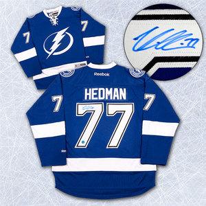 Victor Hedman Tampa Bay Lightning Autographed Reebok Premier Hockey Jersey