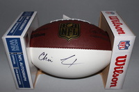 NFL - CHARGERS CHRIS LANDRUM SIGNED PANEL BALL
