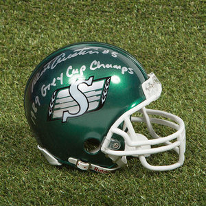 Kent Austin Saskatchewan Roughriders Autographed CFL Football Mini-Helmet
