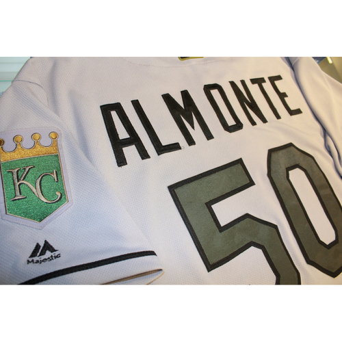 Photo of Miguel Almonte Memorial Day Game-Used Jersey (5/28/17 KC at CLE) (Size 48)