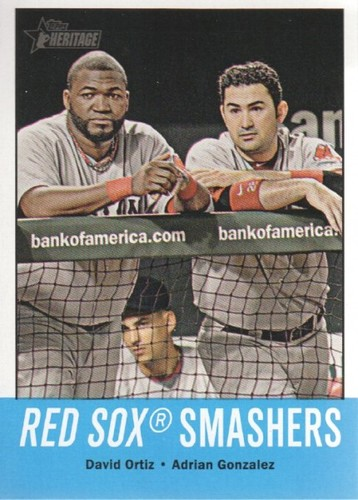 Photo of 2012 Topps Heritage #18 David Ortiz/Adrian Gonzalez
