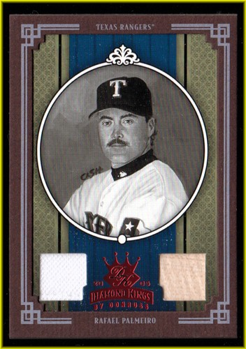 Photo of 2005 Diamond Kings Materials Framed Red B/W #234 Rafael Palmeiro Rgr Bat-Pants/100