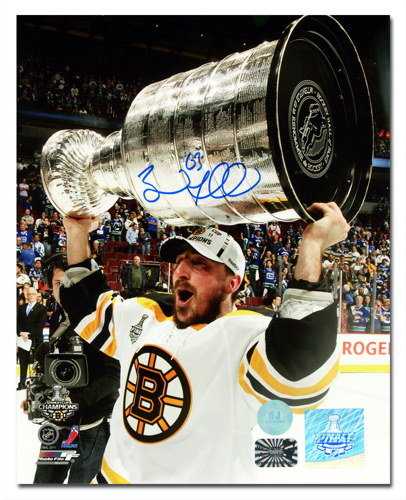 Brad Marchand Boston Bruins Autographed 2009 Stanley Cup 8x10 Photo
