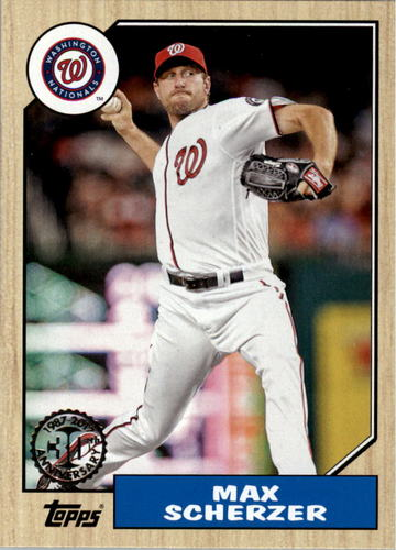 Photo of 2017 Topps '87 Topps #44 Max Scherzer
