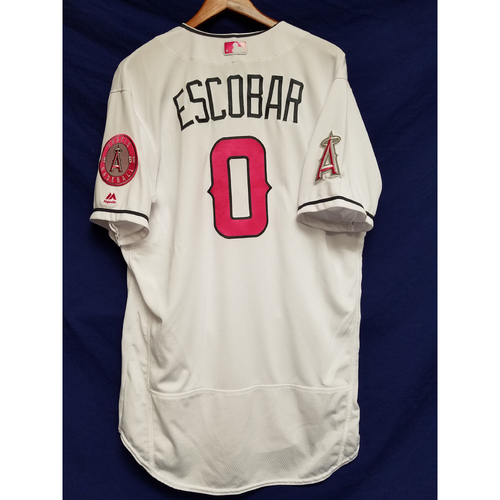 Photo of Yunel Escobar Home Mother's Day Team-Issued Jersey