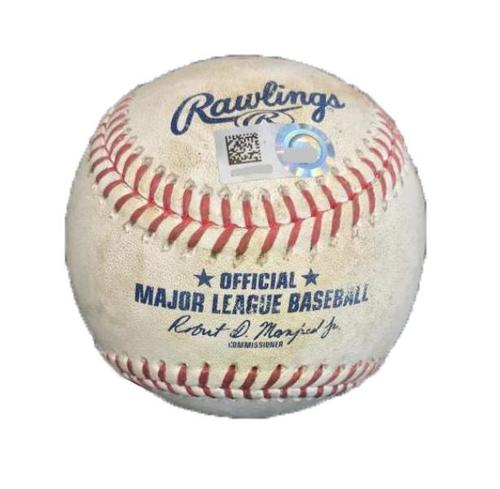 Photo of Game-Used Baseball from Pirates vs. Reds on 9/1/17 - Cole to Duvall, Gennett - Duvall Single, 1 Pitch to Gennett